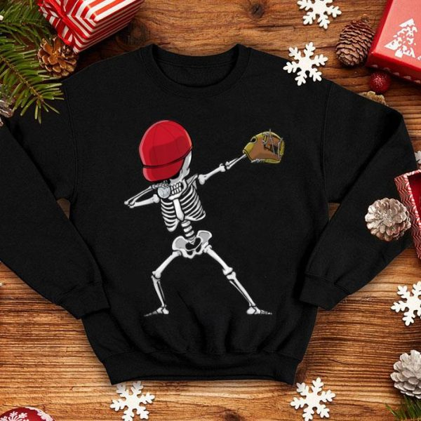 Official Skeleton Baseball Player Dabbing Gifts for Kids - Halloween shirt