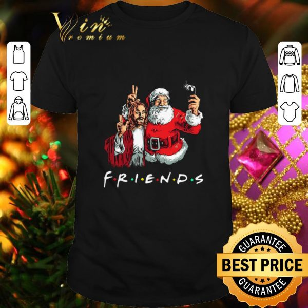 Original Friends Jesus and Santa Claus selfie shirt