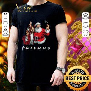 Original Friends Jesus and Santa Claus selfie shirt 2