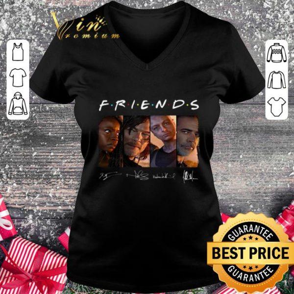 Original Friends The Walking Dead signatures shirt