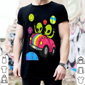 Original Hippie Alien Space Roadtrip Car Peace Area-51 Halloween Gift shirt