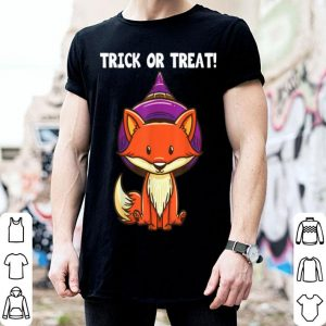 Original Trick Or Treat Witch Fox Halloween Party Costume Kids shirt