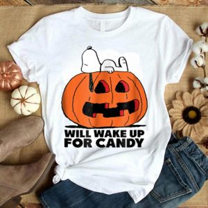 Peanuts Halloween Snoopy Wake For Candy shirt