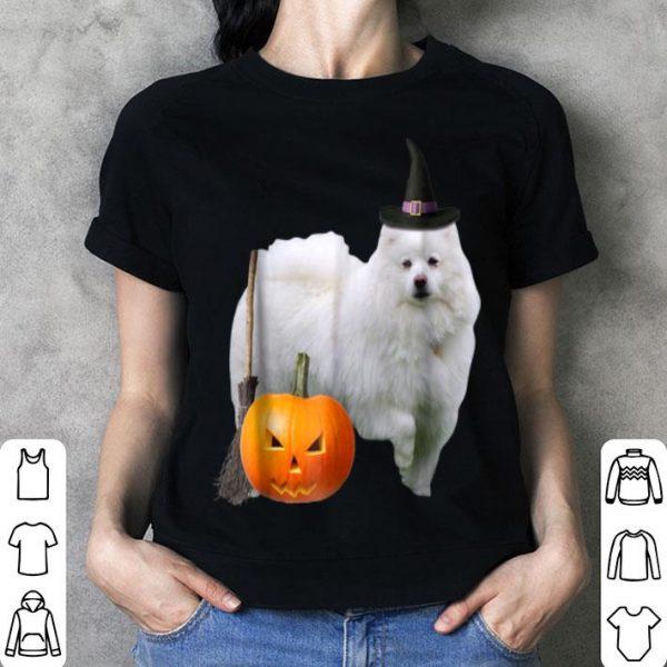 Premium American Eskimo Witch Hat Halloween Dog shirt