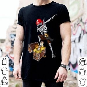 Premium Dabbing Skeleton Pirate Kids Boys Halloween Gift Dab shirt