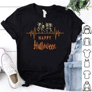 Premium Skeleton Heartbeat Happy Halloween Doctor Or Nurse shirt