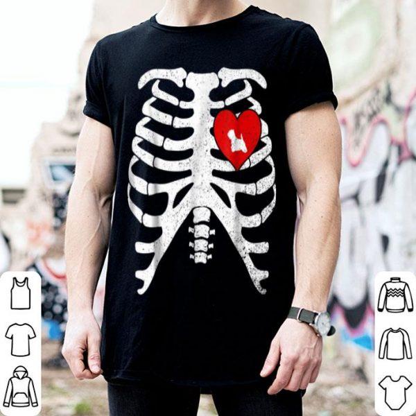 Premium Skeleton Rib Cage Costume Halloween with WESTIE shirt