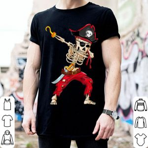 Top Dabbing Skeleton Pirate Halloween Kids Jolly Roger shirt