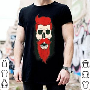 Top Day Of The Dead Funny Beard Bearded Sugar Skull Halloween shirt