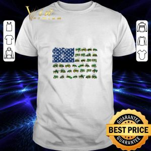 Awesome American flag green Farm Tractor 4th of july independence day shirt