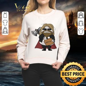 Awesome Avenger Endgame fat Thor eating snack shirt