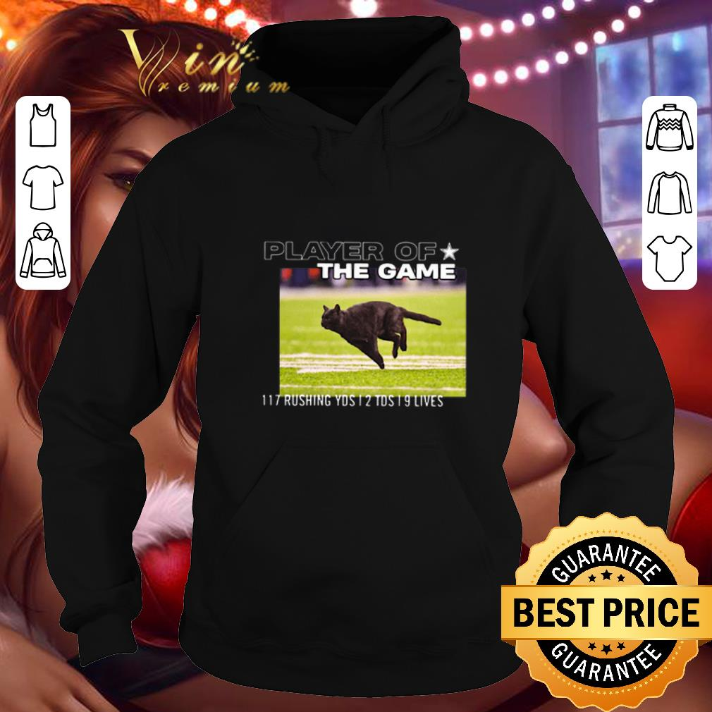 Awesome Cat player of the game 117 rushing yds 2 tds 9 lives shirt 4 - Awesome Cat player of the game 117 rushing yds 2 tds 9 lives shirt