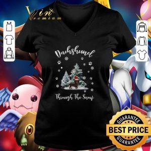 Awesome Dachshund through the snow Christmas shirt