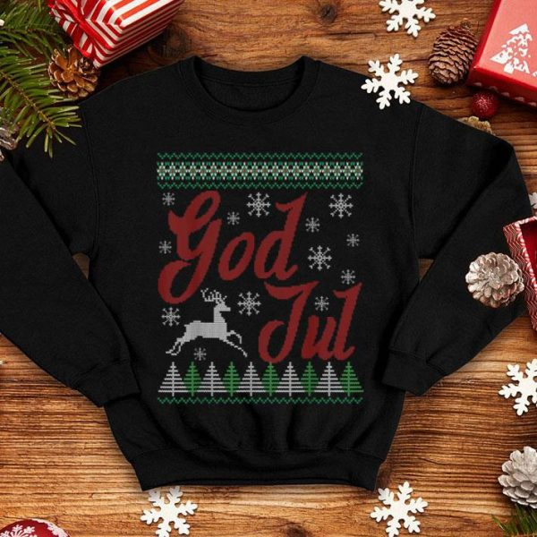 Awesome Funny God Jul Norwegian Christmas Norway Julenissen shirt