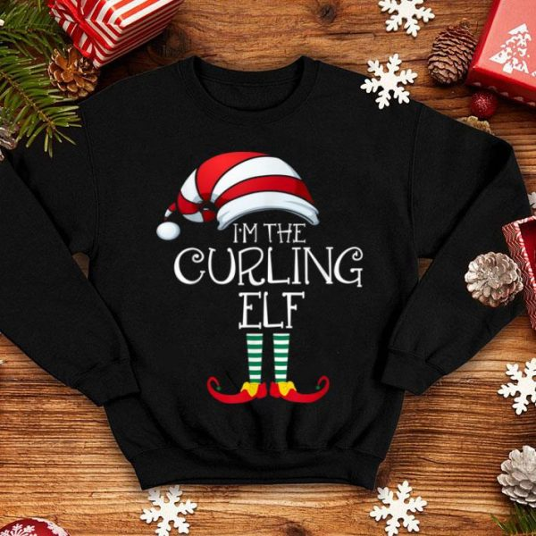 Awesome I'm The Curling Elf Family Matching Christmas Gift Group shirt