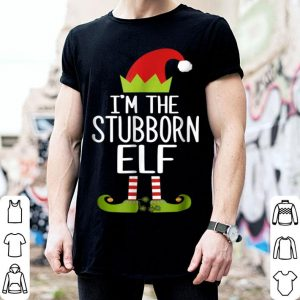 Awesome I'm The Stubborn Elf Christmas Family Costume sweater