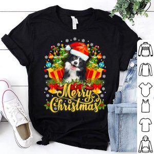 Awesome Merry Christmas Border Collie Mom Dad Christmas shirt