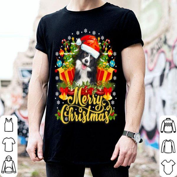 Awesome Merry Christmas Border Collie Mom Dad Christmas shirt