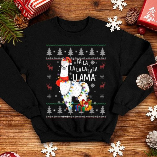 Beautiful Fa La La Llama Funny Christmas Ugly Christmas Lllama shirt