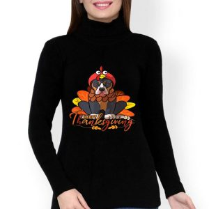Beautiful Funny Dog Costume Pitbull Thanksgiving shirt