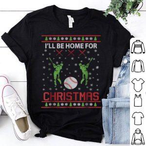 Beautiful I'll Be Home for Christmas Baseball Gift shirt