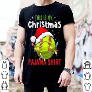Beautiful This Is My Christmas Pajama Baseball Softball Gift Lover shirt
