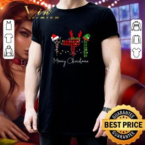Best Merry Christmas Leopard Hairstylist shirt 2