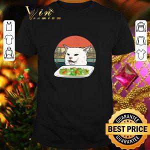 Best White Cat at dinner vintage shirt