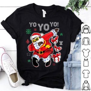 Hot Dabbing Black Santa Claus Funny Yo Yo Yo Christmas sweater