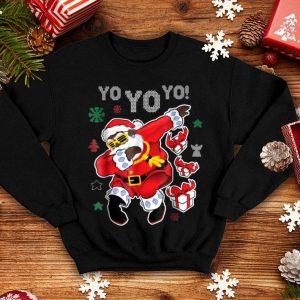 Hot Dabbing Black Santa Claus Funny Yo Yo Yo Christmas sweater