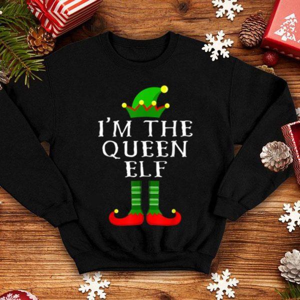 Hot Im The Queen Elf Matching Family Christmas Tee Tee shirt