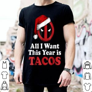 Hot Marvel Deadpool I Want Tacos For Christmas Graphic shirt