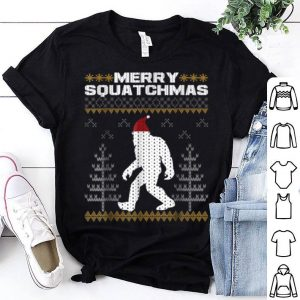 Hot Merry Squatchmas Bigfoot Santa Ugly Christmas Sweater shirt