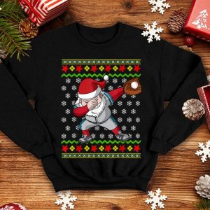 Official Christmas Dabbing Santa Baseball Gift shirt