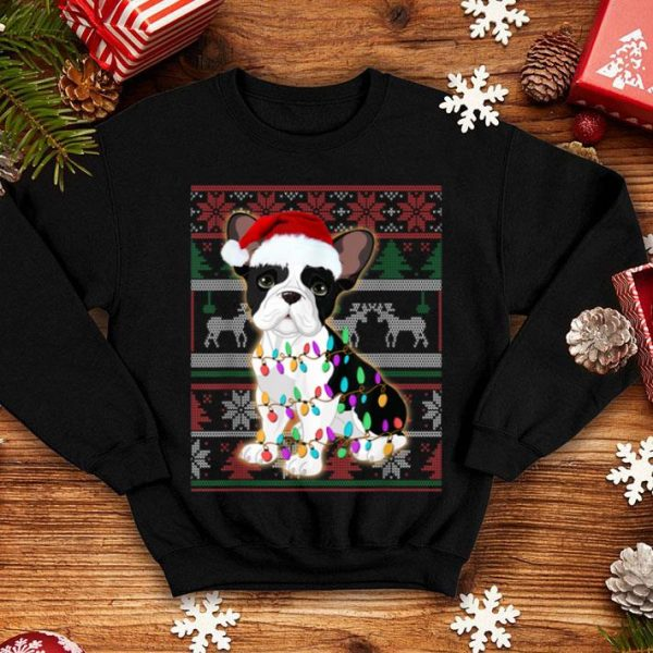 Official French Bulldog Ugly Sweater Christmas Gift shirt
