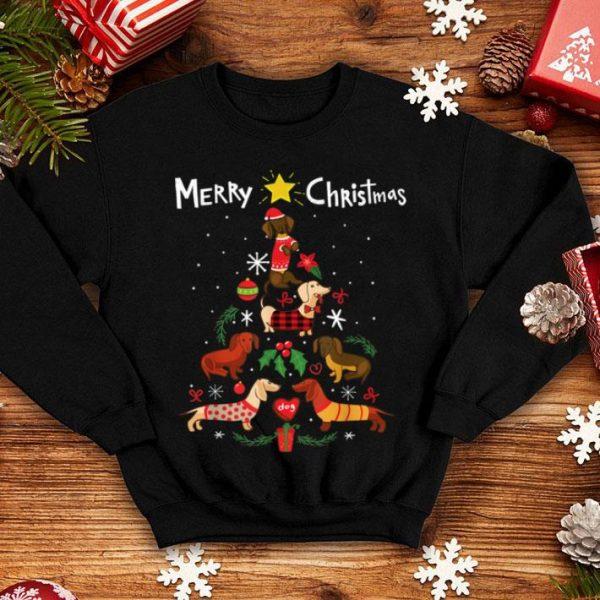 Official Funny Dachshund Christmas Tree Ornament Decor Gift shirt