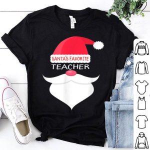 Official Funny Teacher Christmas Gift, Santa's Favorite shirt