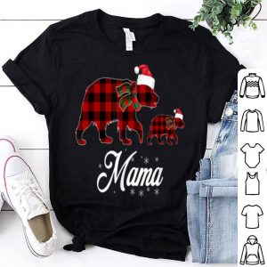 Official Red Plaid Mama Bear Buffalo Matching Family Christmas shirt