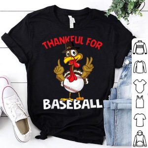 Original Baseball Ball Turkey Thanksgiving day Baseball Sport gift shirt