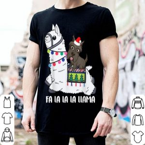 Original Fa La La La LLAMA and Scottie Dog Christmas shirt