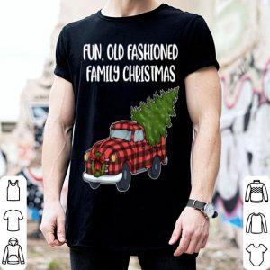 Original Family Christmas Fun Old Fashioned Tree Oldtimer Truck shirt