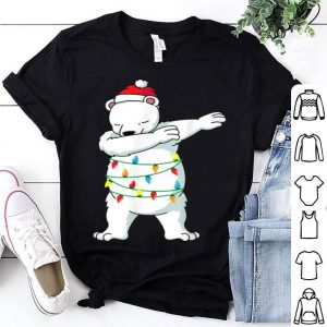Premium Dabbing Polar Bear Christmas Light Funny Christmas shirt