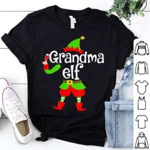 Premium Grandma Elf Wine Lover Christmas Xmas Gift For Drinker shirt