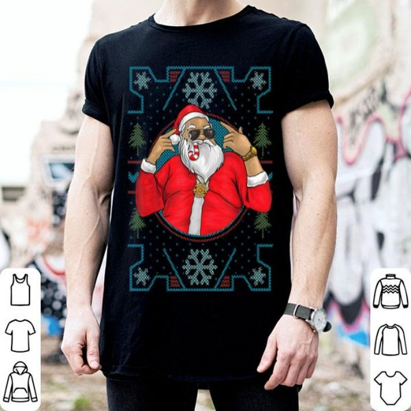 Premium Mens Funny Dirty Rapper Santa Christmas shirt