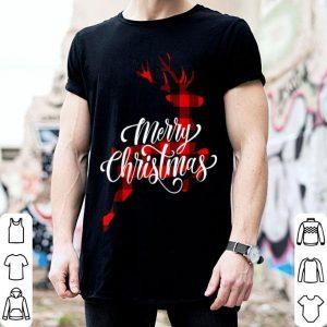 Premium Merry Christmas Buffalo Plaid Xmas Reindeer Woman Gift sweater