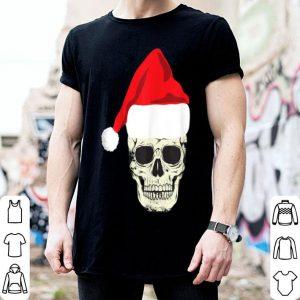Premium Skull In Santa Hat Christmas Skeleton Christmas Tee shirt