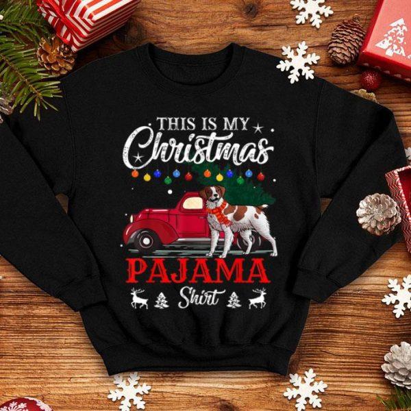 Premium This Is My Christmas Pajama Brittany Spaniel shirt
