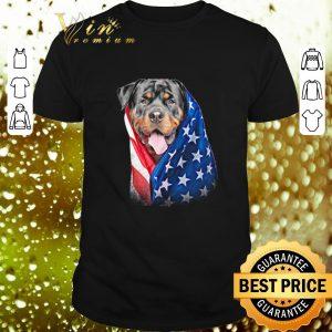 Pretty American flag Rottweiler shirt