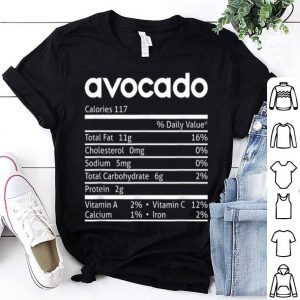 Pretty Avocado Nutrition Facts Funny Thanksgiving Christmas Costume shirt