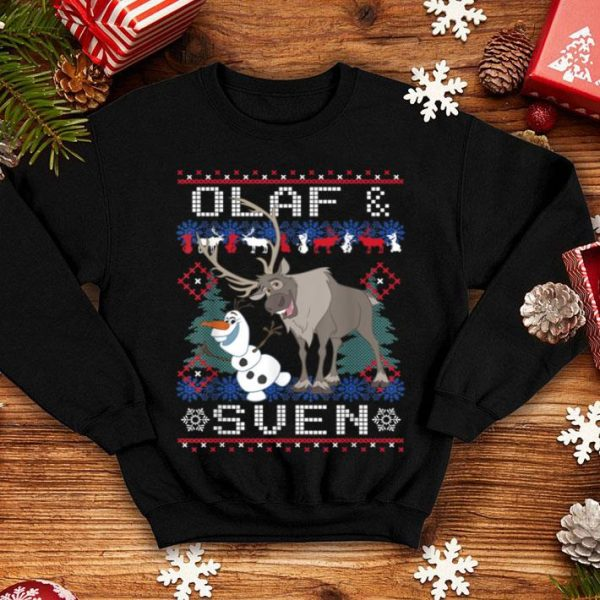 Pretty Disney Frozen Olaf Sven Ugly Christmas Sweater shirt